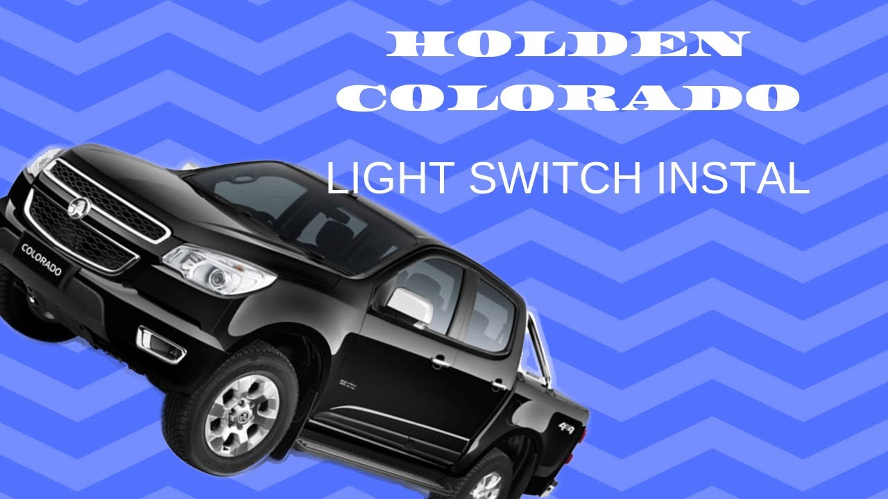 Holden RG Colorado Rocker switch installation on