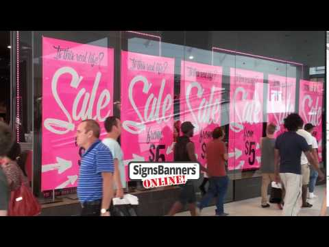 Shop Window Sale Banners Amp Poster Ideas Youtube