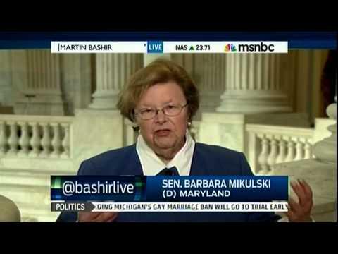 Mikulski Speaks with MSNBC on Senate Women