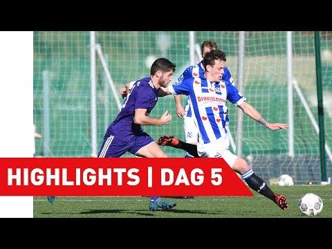Highlights Jong sc Heerenveen - Jong RSC Anderlecht (oefenwedstrijd)
