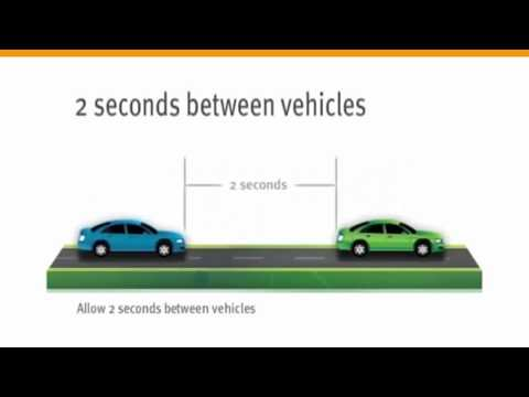 How to Safe following distances Road Rules. Road test driving license test.