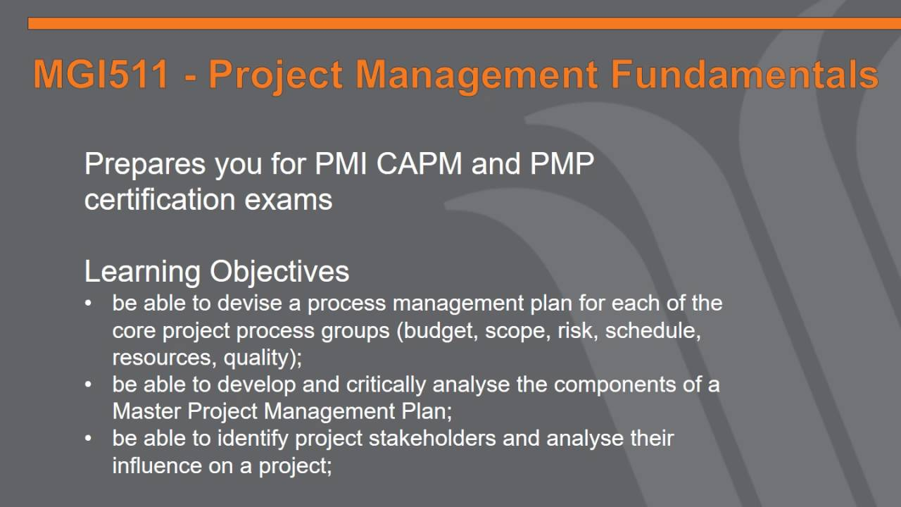 Master Of Project Management Youtube