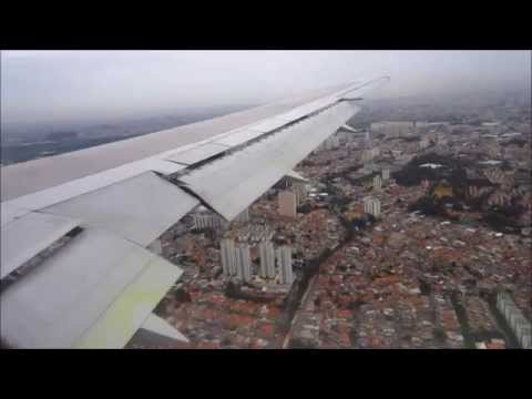Air Canada Boeing 767-300ER approach + landing / pouso @ São Paulo Guarulhos