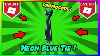 Roblox Free Neon Blue Tie Hat! FREE ROBLOX PROMOCODE! | How To Get the Neon Blue Tie Hat On ROBLOX!