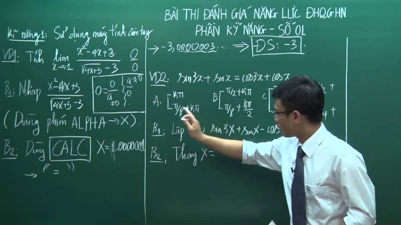Kỹ năng sử dụng máy tính cầm tay trong giải toán