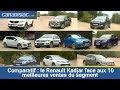 Comparatif : le Renault Kadjar face aux 10 meilleures ventes du segment