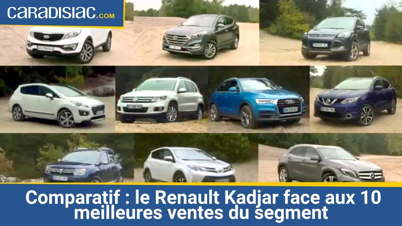 comparatif le renault kadjar face aux 10 meilleures ventes du segment youtube. Black Bedroom Furniture Sets. Home Design Ideas