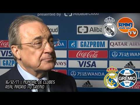 FLORENTINO PEREZ post Real Madrid 1-0 Gremio | CAMPEON FINAL Mundial de Clubes 2017 (16/12/2017)