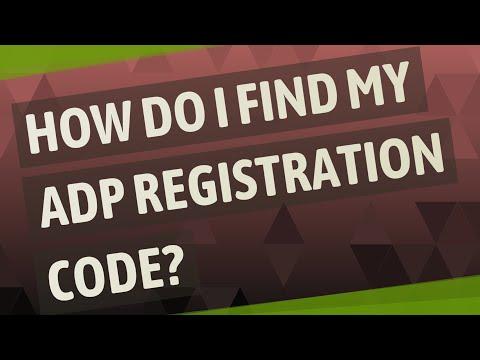 How Do I Find My ADP Registration Code?