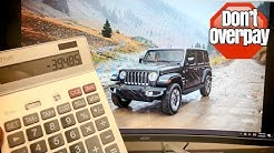 NEW Jeep Wrangler JL Negotiation Tips. (Lease deals, discounts, residuals, and money factors.)
