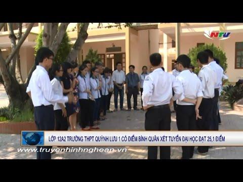 Lớp 12A2 - THPT Quỳnh Lưu 1 có điểm bình quân xét tuyển Đại học 25.1 điểm