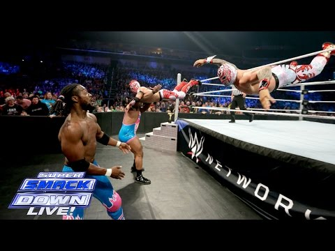 The Lucha Dragons Vs. The New Day - Tag Team Championship Match: SuperSmackDown, December 22, 2015