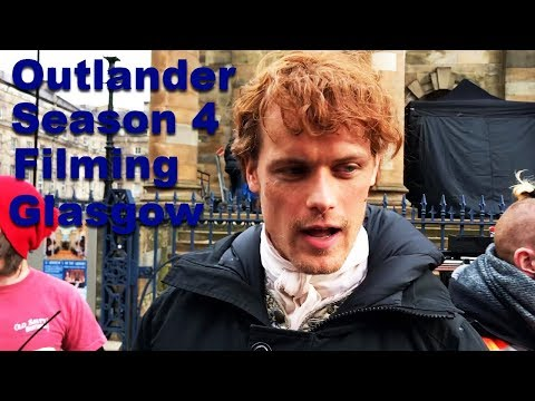 Outlander Season 4 Filming in Glasgow with Sam Heughan and Caitriona Balfe!