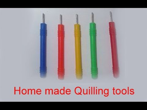 how to make quilling tool at home quilling tool youtube