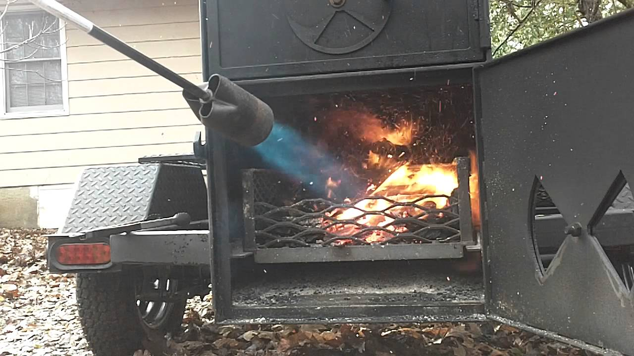 how to light a stick burner smoker at least one way. Black Bedroom Furniture Sets. Home Design Ideas