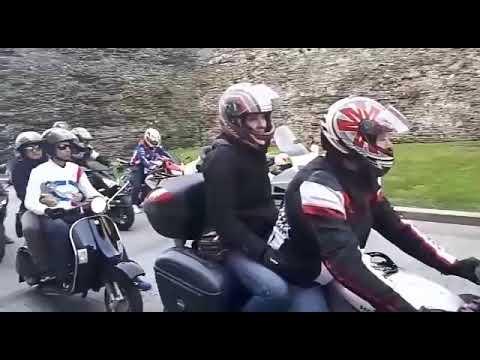 Las motos rugen por la Ronda en la I Quedada Motera San Froilán