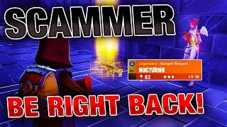Going AFK while Trading My Nocturno! | *INSANE* Experiment | Fortnite Save the World thumbnail