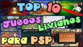 TOP 10 DE JUEGOS LIVIANOS PARA PSP | LINK DE DESCARGA (MEGA) 2017