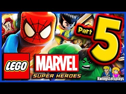 LEGO Marvel Super Heroes Walkthrough Part 5 Stark Tower & Ar