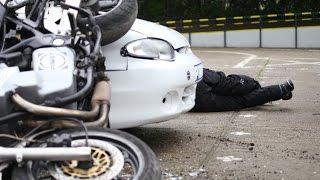 Pokazali makabryczny wypadek motocyklisty. Symulacja widziana z trzech kamer