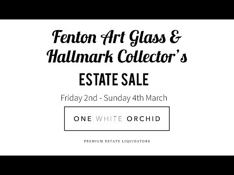 FENTON ART GLASS FANATICS AND HALLMARK COLLECTORS SALE
