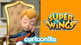 Super Wings | Prince Simon Wont Laugh | Cartoonito UK