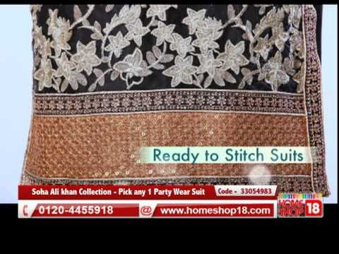 Homeshop18.com - Soha Ali khan Collection - Pick any 1 Party Wear Suit