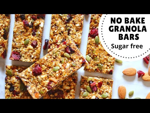 Granola Bar Recipe | Sugar-Free, No-Bake & Without Oven