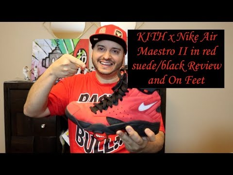 d5e75a5e9973 KITH x Nike Air Maestro II in red suede black Review and On Feet ...