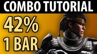 Mortal Kombat X - Takeda: 42% Combo Tutorial - Shirai Ryu!