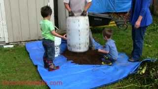 High Yield Potato Barrel(Description: We used a 35 Gallon barrel, with the Mittleiders Method Laws of growing and the weekly feed. Go to: http://www.momsimplelife.com/high-yie... to ..., 2014-09-29T22:43:28.000Z)