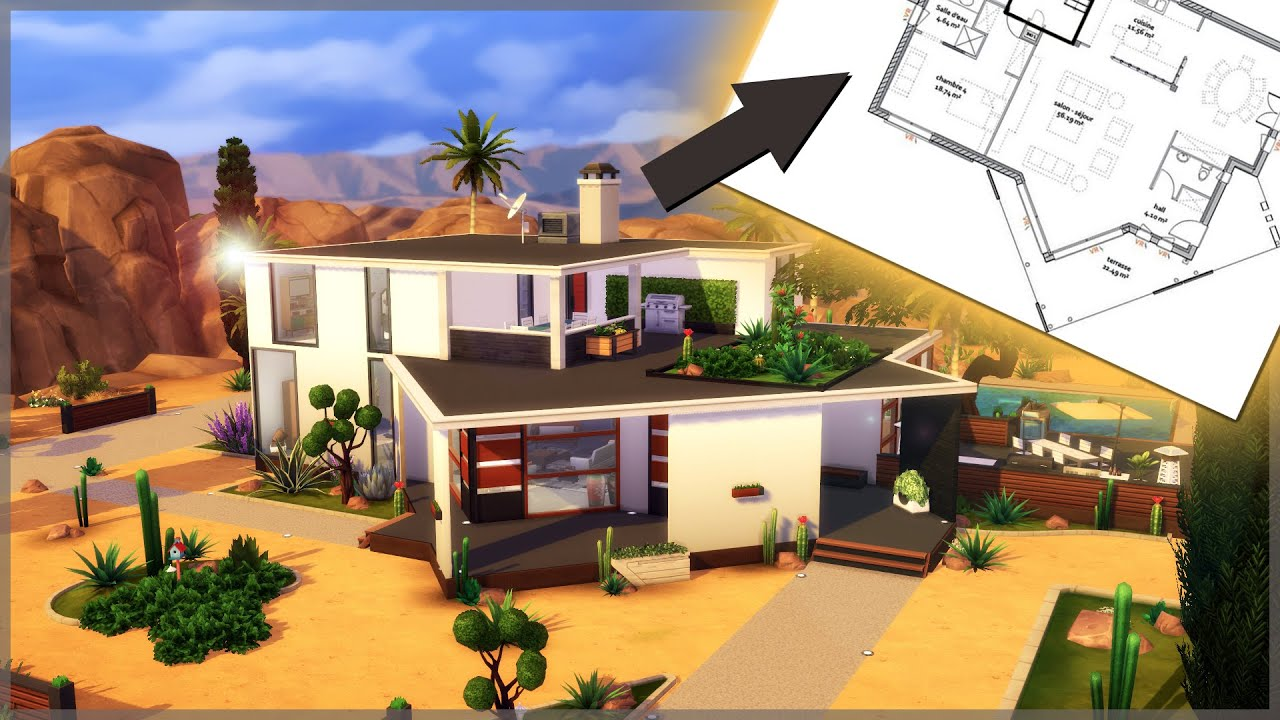 Creation Sims 4 Maison Sur Plan Speed Build Youtube