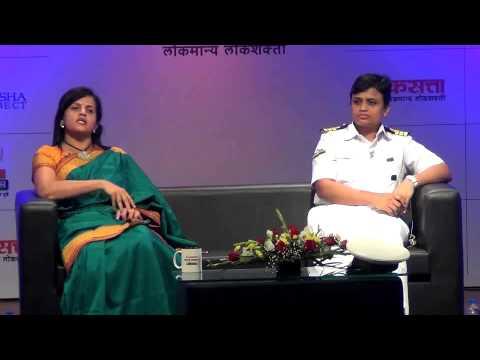 Devendra Fadnavis and Girish Kuber in Google Hangout Session