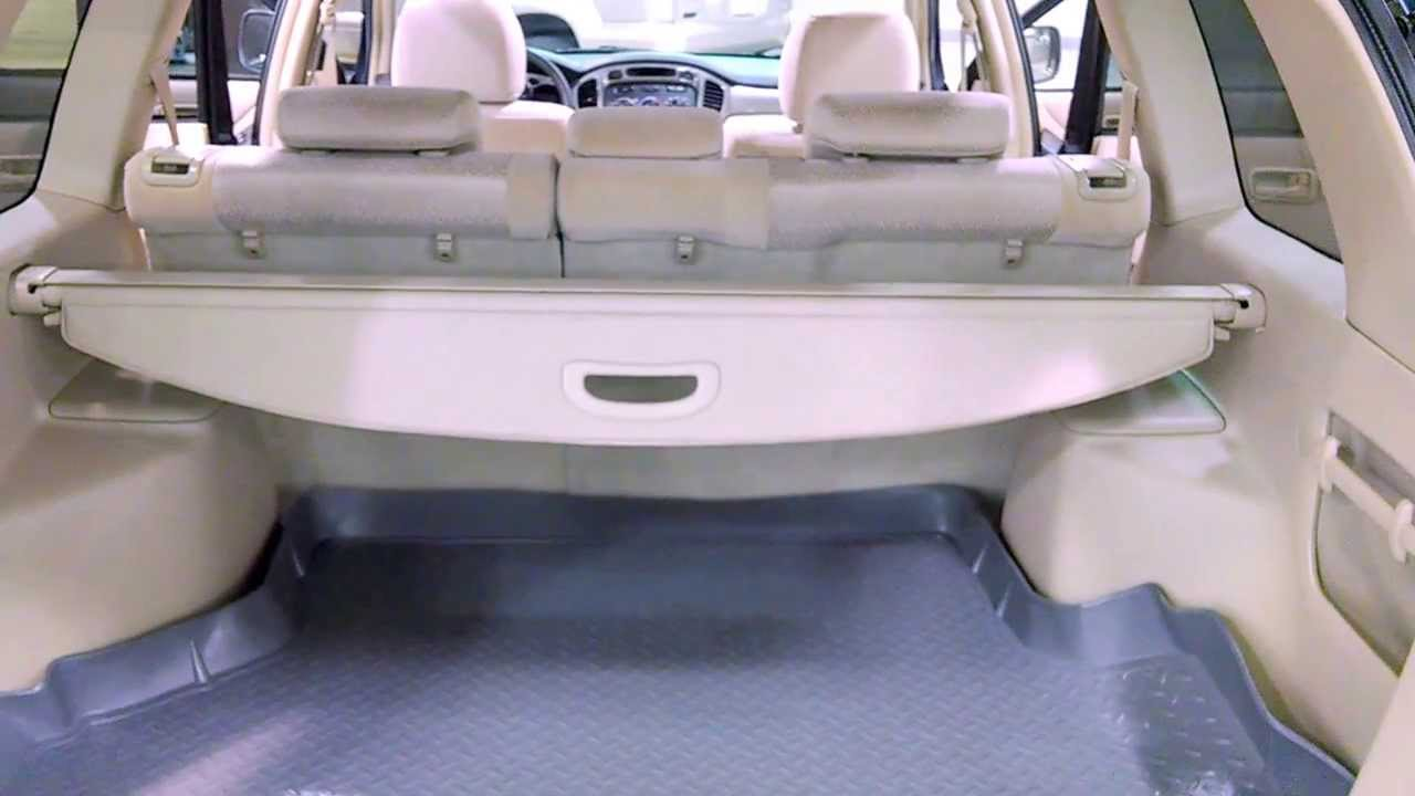 2003 Toyota Highlander - Rear Cargo Area - YouTube