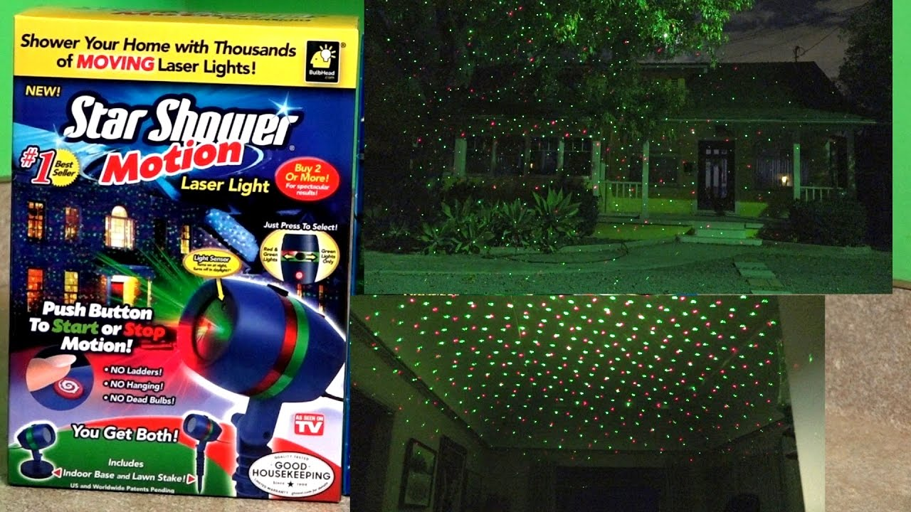 Star Shower Motion Laser Lights Review Test Footage Christmas You