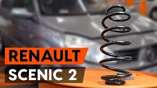 Sway bar bushes change on RENAULT SCÉNIC II (JM0/1_) - video instructions