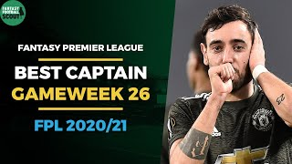 BEST FPL CAPTAIN DOUBLE GAMEWEEK 26 | FANTASY PREMIER LEAGUE TIPS 2020/21