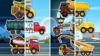 çocuklar l için kötü için iyi araç Dönüşüm karikatür inşaat Araç l ver 01 Öğrenin