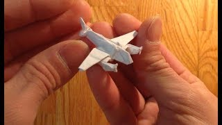 Origami mosquito plane