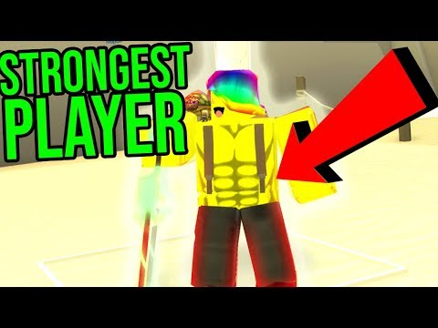 ROBLOX BEACH SIMULATOR *STRONGEST PLAYER IN THE GAME*