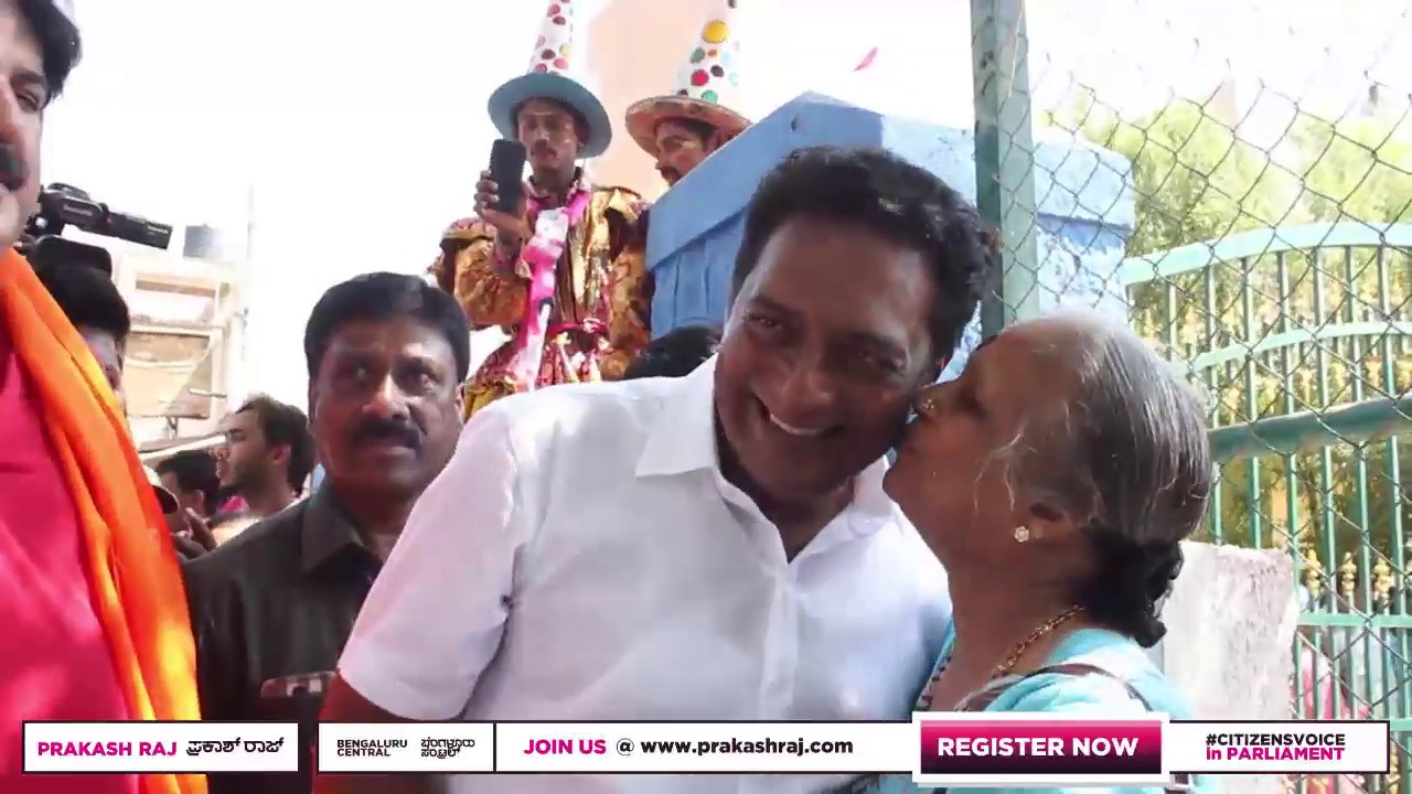 Prakash Raj - Nomination Rally