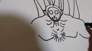 Cómo dibujar a new born berserker gigante de slendytubbies/how to draw new born berserker gigante