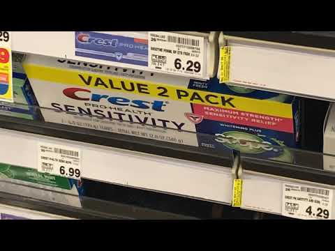 Crest Toothpaste Dizzying Variety Of Products At Kroger's Fayettville GA