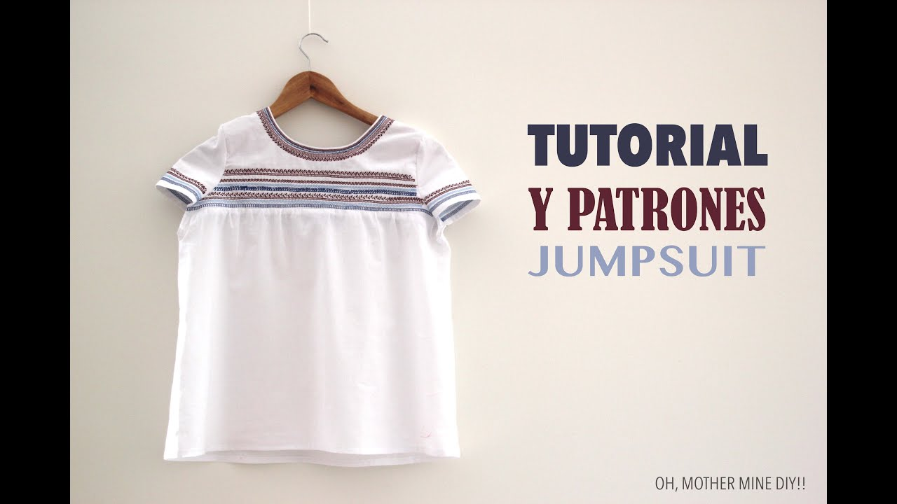 Tutorial y patrones Camiseta Boho Bordada - YouTube