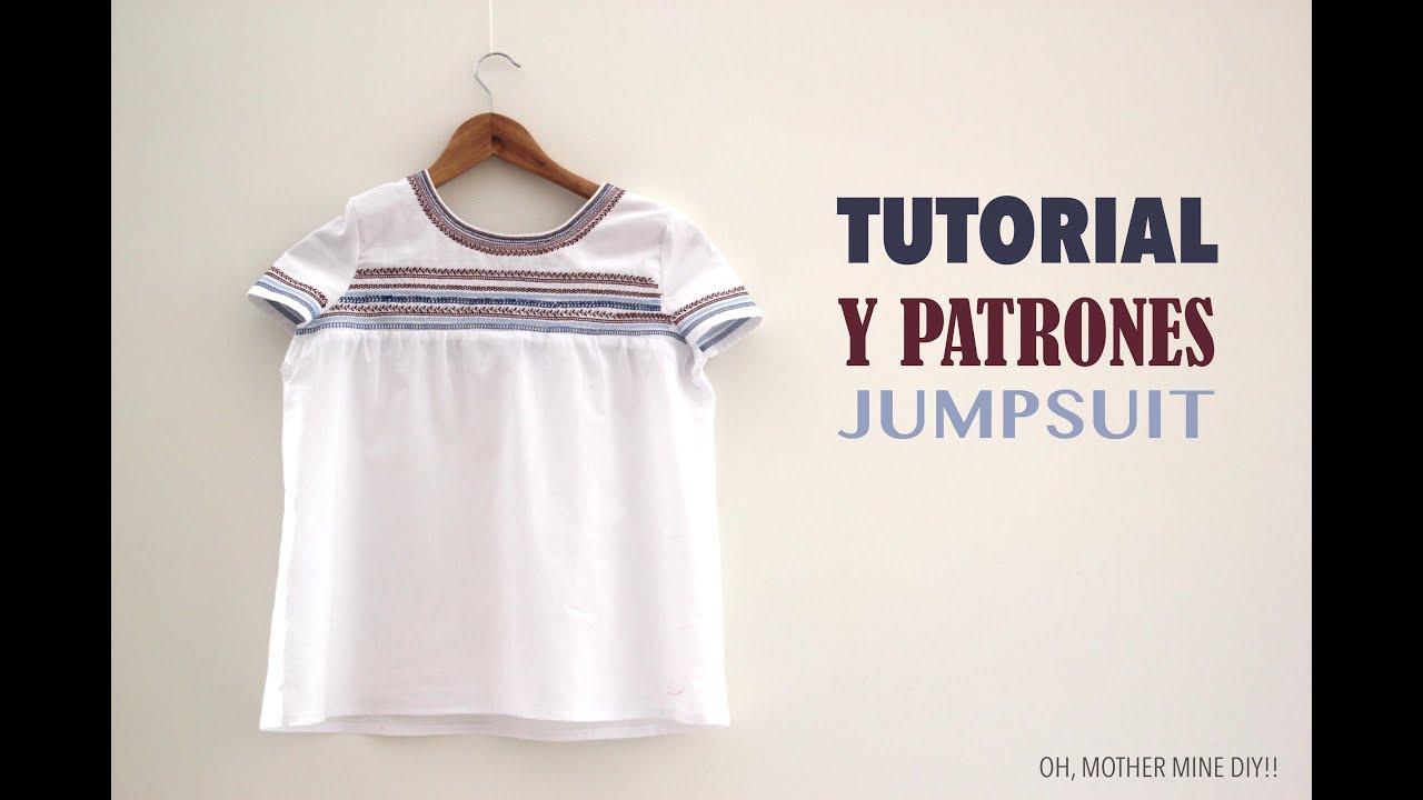 DIY Tutorial y patrones gratis Blusa Sin Hombros Oh Mother Mine