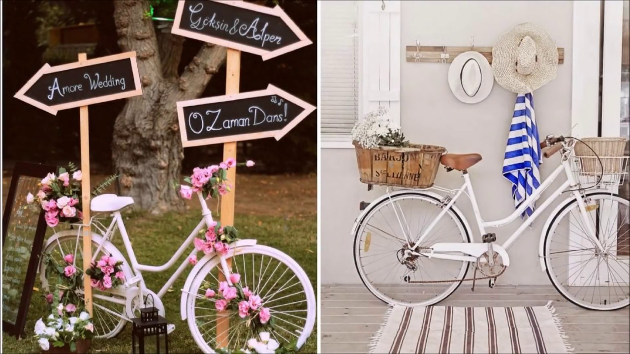 ❤DIY Shabby chic style Vintage Bicycle decor Ideas❤  Bicycle planter  Ideas Flamingo Mango