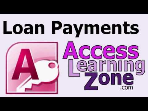 Calculate Loan Payments in Microsoft Access