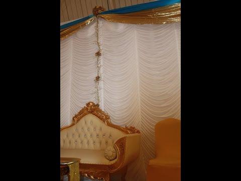 Wedding backdrop  mandap hire throne chairs, sofa, pillars and mood lights hire