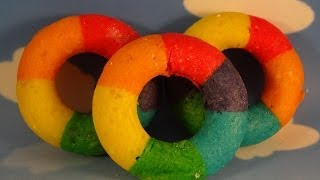 Baked Mini Rainbow Doughnuts (donuts) - With Yoyomax12