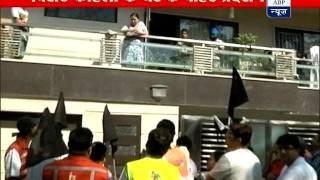 Kingfisher airlines employees protest outside of Kohli